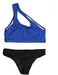 JORICH Bikini 2019 Sexy De Un Solo Hombro Sexy Traje De Baño De Las Mujeres Sólido Estilo De Deporte Traje De Baño Push Up