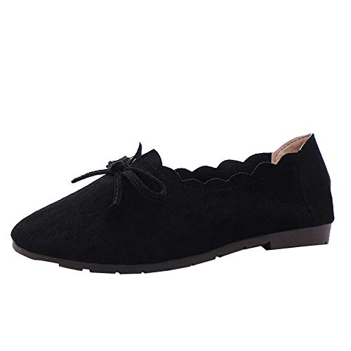 Modern leather lace up boot,yesmile women bowknot round toe suede lace up shoes flat single shoes peas boat shoes scarpe da lavoro