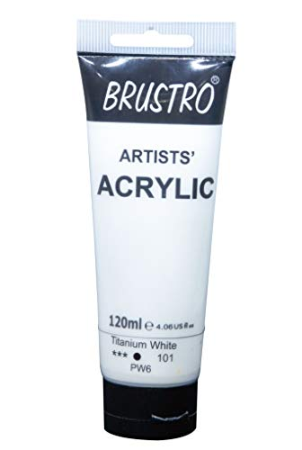 Brustro Artists' Acrylic 120ml Titanium White