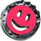 Ausstechform, Smiley, Edelstahl, 5cm, mit Auswerfer - Bremer Gewürzhandel