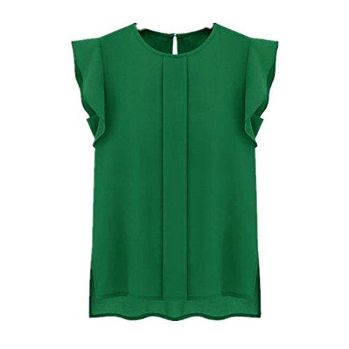 amlaiworld-femmes-en-vrac-tulip-courte-en-mousseline-de-soie-manches-chemisier-tops-xl-vert