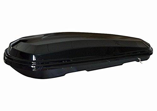 Dachbox VDP-MAB450 schwarz glänzend Dachkoffer Autokoffer abschließbar 450 Liter