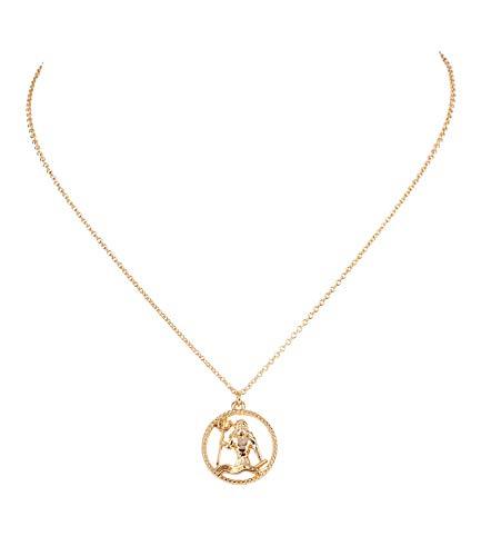 Sternzeichen, Wassermann, Statement Kette, Anhänger, Symbol, Gold (758-926) ()