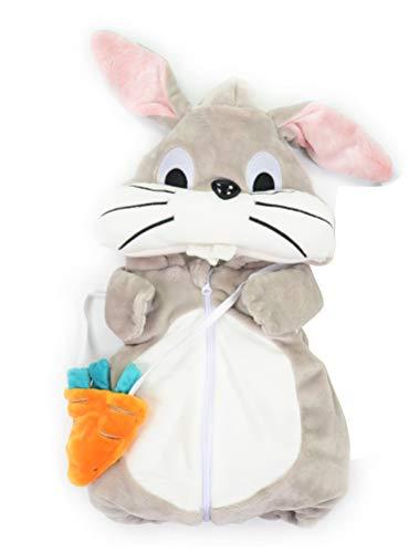 ARAUS Baby Weste Wintejacke Ärmlos mit Karotte Tasche Kapuzenweste Kaninchen Weihnachtsmann