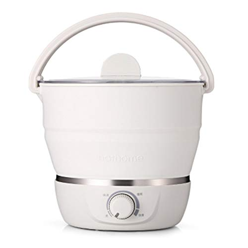 NBRTT Cocina Caliente eléctrica Plegable, Olla portátil de Silicona de Grado alimenticio, Agua hirviendo rápidamente, para Viajes al Aire Libre Dormitorio, hogar, Doble Voltaje 100v-240v