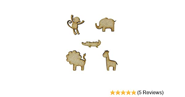 Wooden 3mm MDF 20 assorted shapes Zoo Animal Shapes