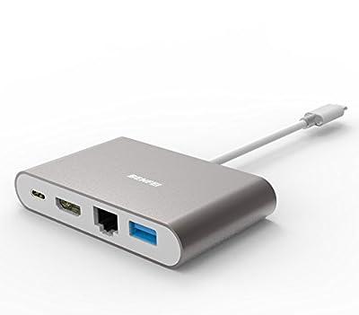 USB-C to HDMI, Benfei USB C Digital AV Multiport Adapter | USB Type C to HDMI | USB Type C to USB 3.0 Hub | USB-C Female Charger Converter | USB-C to Ethernet Hub from Benfei