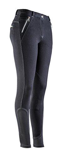 EQUI-THÈME Culotte Equitation Pantalon Zipper - Noir - 40 Femme