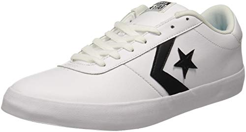 Converse Unisex White/Black Sneakers-10 UK/India (44 EU)(8907788079209)