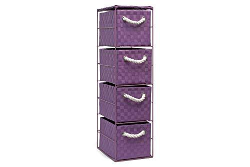 Finta Cassettiera Letto : Arpan cassettiera viola con cassetti ideale per casa ufficio