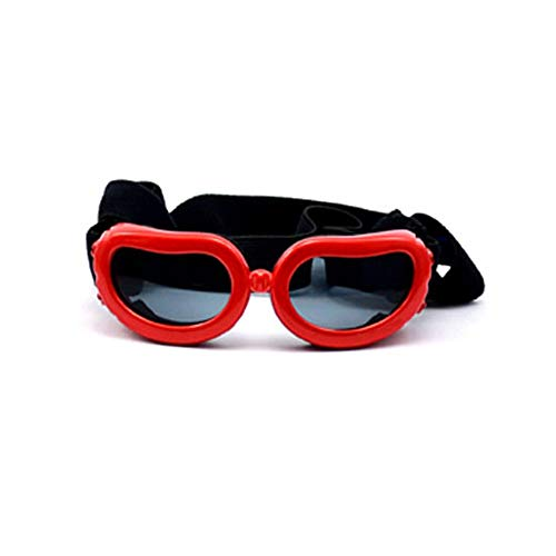 Im Freien Pet Glasses Collapsible Dog Sonnenbrillen Windproof Anti-Smashing-Brille (Color : Red)