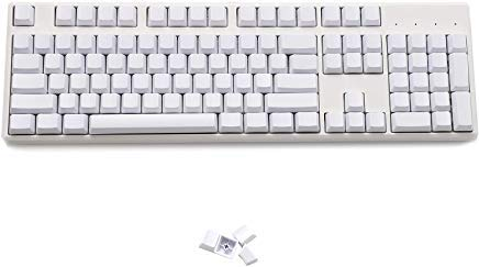 Blank Thick PBT OEM Profile 108 ANSI Keycaps For MX Switches Mechanical  Keyboard (White)