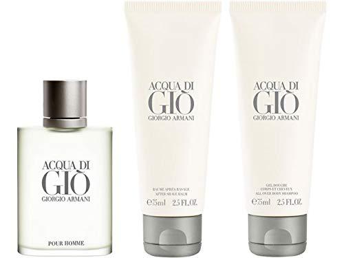 Giorgio Armani Acqua Gio homme/man Set (Eau de Toilette, 50 ml + Duschgel, 75ml +After Shave Balsam, 75 ml) - Acqua Di Gio Duschgel