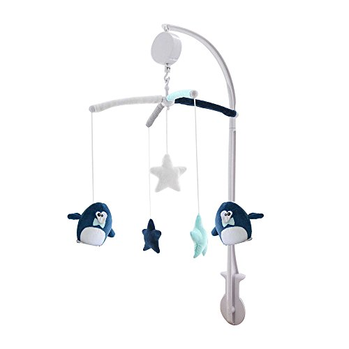 poyetmotte Pinguin Musical Mobile, 25 cm (Musical-wand-dekor)
