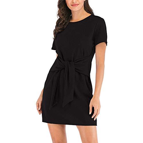 Damen Kleider, GJKK Damen Elegant Solid Schulterfreies Langärmelig Mini Kleid Elastische Abendgesellschaft Minikleid Frauen Abendkleid ()
