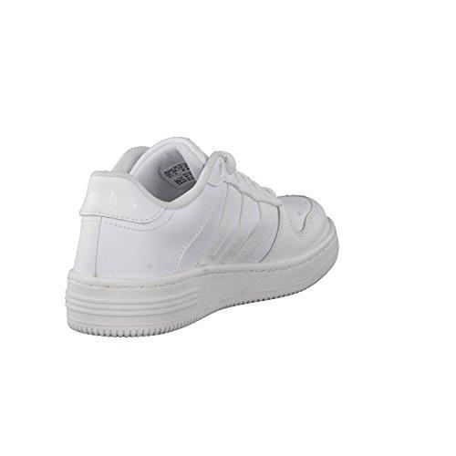 adidas Jungen Team Court K Turnschuhe Blanco (Ftwbla / Ftwbla / Onicla)