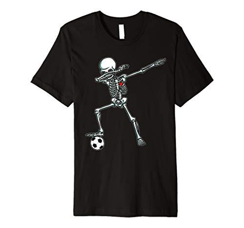 (Sanftes Skelett Fußball T-Shirt Ball DAB Hip Hop Skull Geschenk)