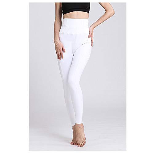 LQRR Hohe Taille elastische Frauen Yoga Hosen Damen Gym Fitness Kleidung Laufhose Sport Athletic Leggings Plus größe Workout Strumpfhosen,Weiß,XL (Plus Weiße Strumpfhose)