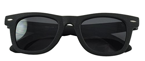 Revive Eyewear 'Wild One' Textur Collection Fifties Sonnenbrille Kunstleder Gr. Einheitsgröße, Leather (Black)