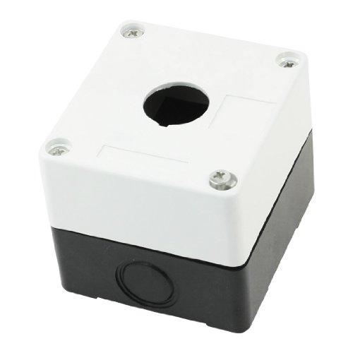 Rechteck 1Loch Push Button Switch Control Schalter Box, weiß schwarz Push-button Switch-box