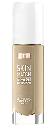 Astor Skin Match Protect Make Up, ivory, Farbe 100, 1er Pack (1 x 30 ml) (Make-up Fake Skin)