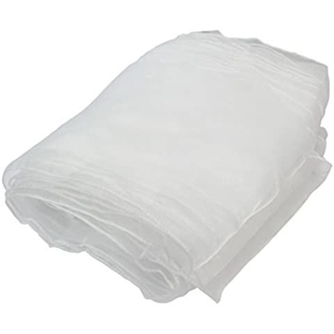 10 x Fajas Cinta Cubierta Silla Lazo Organza Blanco para Decorar Boda Banquete