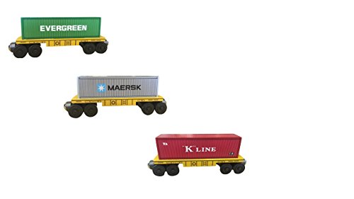 3 Carriage Wooden Railway Shipping Container Set By Whittle Shortline Railroad