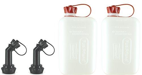 FuelFriend®-Big Clear Max. 2.0 Litri + Tubo bloccabile - Tanica con omologazione Un - 2 Pezzi per Un Prezzo Speciale