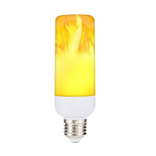 WANNA.ME Flamme Lampe LED Candlestick Birne mit Reverse-Effekt-Modus 2 Mount E27 / E14 Base (AS Gezeigt, C) -