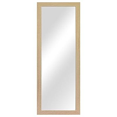 Garderobenspiegel Wandspiegel Frisierspiegel Flurspiegel Barspiegel 36,5x96,5cm - Natur