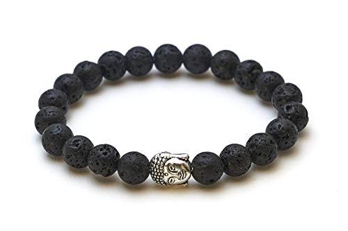 Buddha Armband mit Lavastein Perlen - Yoga Armband
