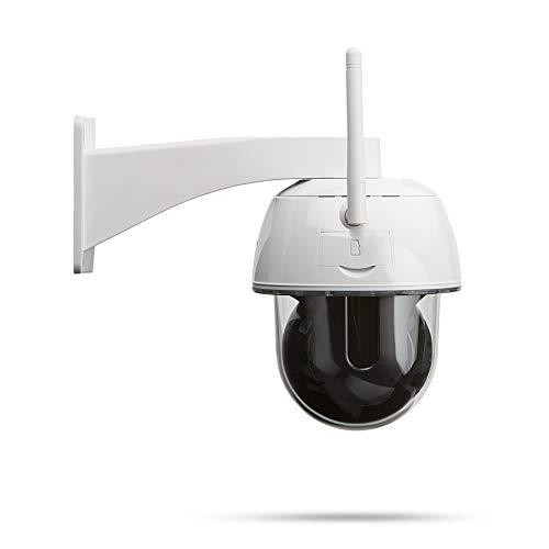 Secufirst PTZ IP Dome Kamera, überwachungskamera WLAN Outdoor, 6X Zoom, Zweiwege-Audio, IR-Nachtsicht, IP66 wasserfest, Bewegungsmelder, Micro SD-Karte zu 128 GB, kein ABO oder zusätzliche Kosten