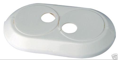 5 Stück Doppel Heizungsrosetten Heizungsmanschetten weiß 15 mm -