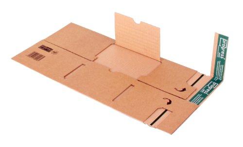 progressPACK Universal-Versandverpackung Premium PP B03.01 aus doppelter Wellpappe, DIN C5, 230 x 162 x bis 80 mm, 20-er Pack, braun