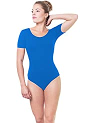 Gymnastikanzug Damen Ballettanzug Kurzarm Bodies Ballett Trikot Turnanzug Bodysuit / Made in EU