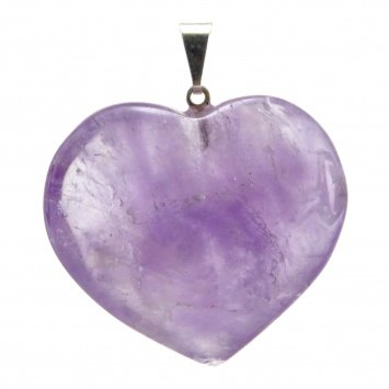 Heart-shaped pendant-AMETHYSTE mineral