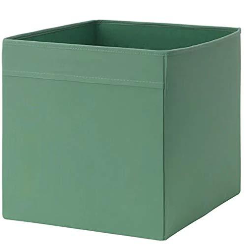 Ikea DRÖNA Box Fach, dunkelgrün (33cm x 38cm x 33cm), Polyester, grün, 33 x 33 x 38 cm