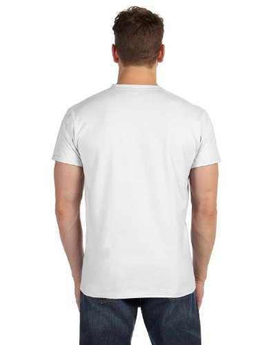 Hanes Mens Nano-T V-Neck T-Shirt White