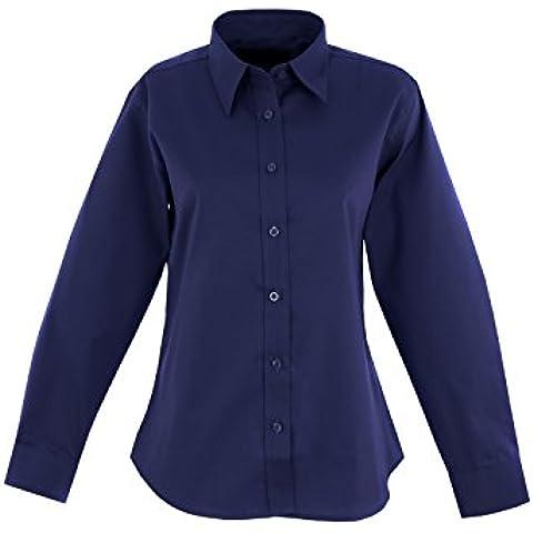Salt Pepper Pinpoint Oxford-Camicia a maniche lunghe termica da lavoro uniforme UC703 2XL, colore: nero [lingua inglese] blu XXXXL