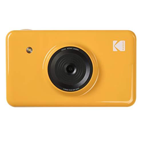 Kodak Mini SHOT Impresiones inalámbricas de 2x3 pulgadas con 4 PASS Tecnología de impresión patentada Cámara digital de impresión instantánea 2 en 1 (Amarillo)