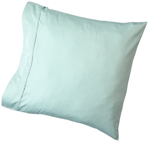 AmazonBasics Taie(s) d'oreiller 400 Fils, Lot de 2, 65 x 65 cm - Vert d'eau