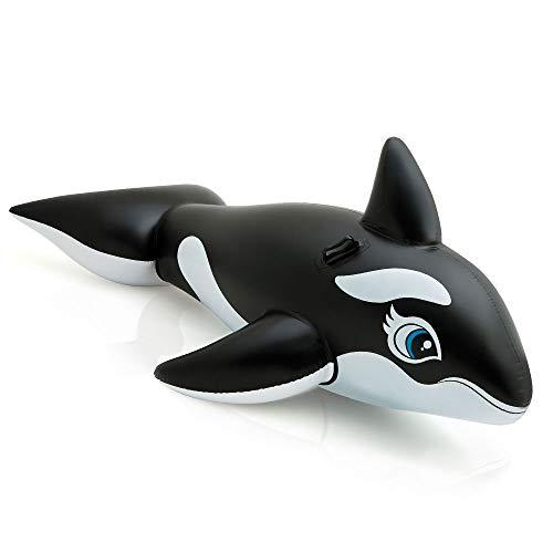 Intex 58561 - cavalcabile orca, nero/bianco, 193 x 119 cm