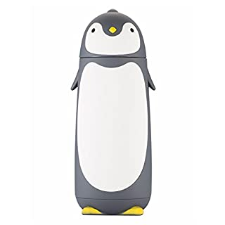 Ailiebhaus 280ML Insulated Mug Vacuum Flask Sweet Gray Penguin Cup