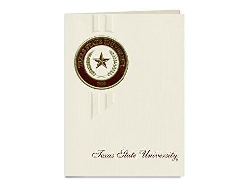 Signature Ankündigungen Texas State University Graduation Ankündigungen, eleganten Stil, Elite Pack 20mit Texas State u.-san Marcos Dichtung Folie