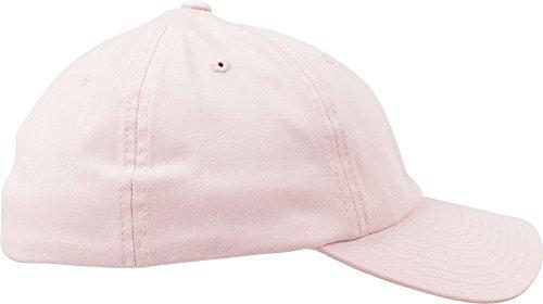 Flexfit Cotton Twill Dad Cap Unisex Kappe für Damen und Herren pink