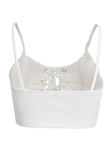 Simplee Apparel Damen Top Weiß