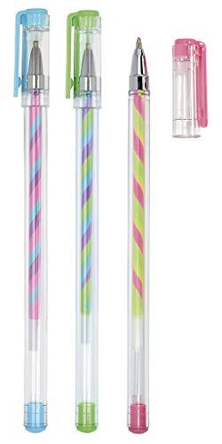 Moses. 26184 Regenbogen Gelstifte | 3 Gelschreiber in Neonfarben im Set | Zum Schreiben, Malen und Verzieren, bunt