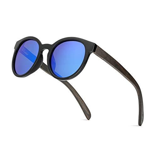 56a8d5c4bd OSVAW Gafas de sol Polarizadas de Madera para Mujeres y Hombres, Gafas de  sol Retro