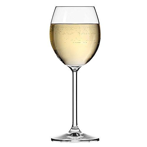 Krosno Europe Non-Lead Crystal-Clear Glass, Venezia White Wine, 250 Ml Set of 6