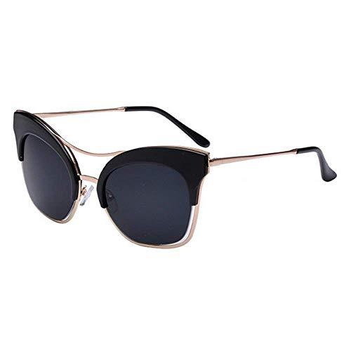 XHCP Frauen Polarisierte Klassische Aviator Sonnenbrille, Big Size Cat Eyes Persönlichkeit Sonnenbrille Für Frauen UV400 Schutz Fahren Strand Sommerurlaub (Farbe: C1)